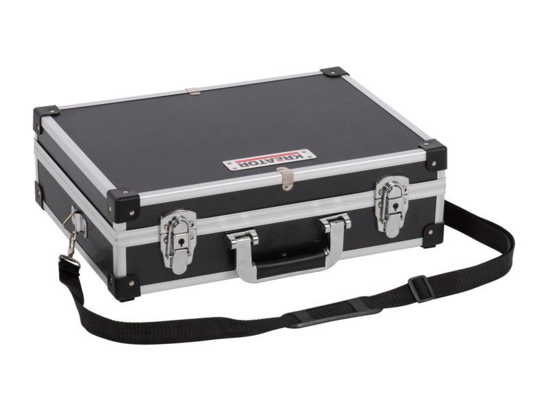 Kreator mallette 42x30x12,5 cm aluminium noir
