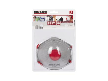 Kreator masque anti-poussière et anti-odeur  FFP1 2 pièces