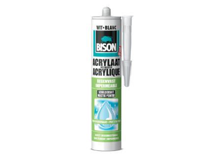 Bison mastic acrylique imperméable 310ml blanc