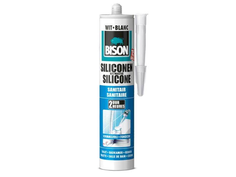 Bison mastic silicone sanitaire 300ml blanc