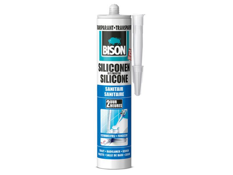 Bison mastic silicone sanitaire 300ml transparent