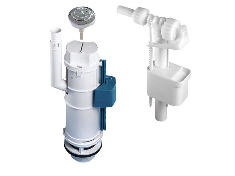 Allibert mécanisme WC duo 3/6l + robinet flotteur