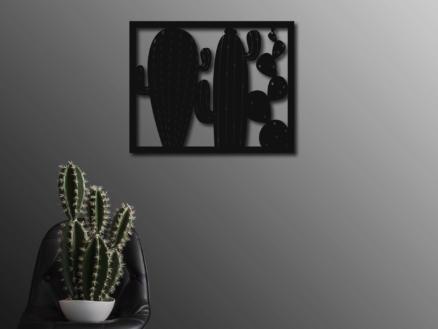 Art for the Home metal art cactus 40x50 cm zwart