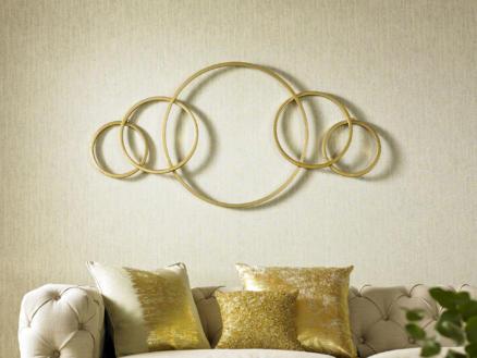 Art for the Home metal art cirkels 60x120 cm goud