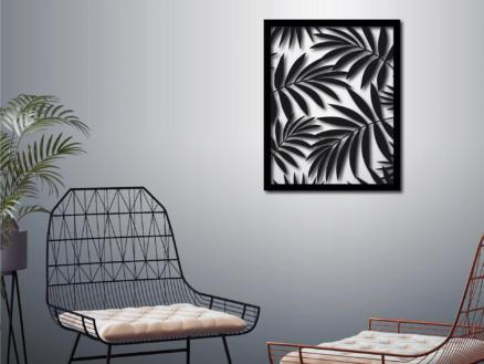 Art for the Home metal art palmier 50x40 cm noir