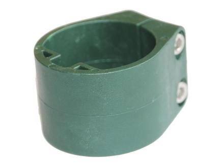 Giardino midden- en eindklem voor profielpaal groen