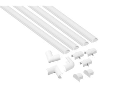 moulure de sol 20x10 mm 1m blanc + accessoires