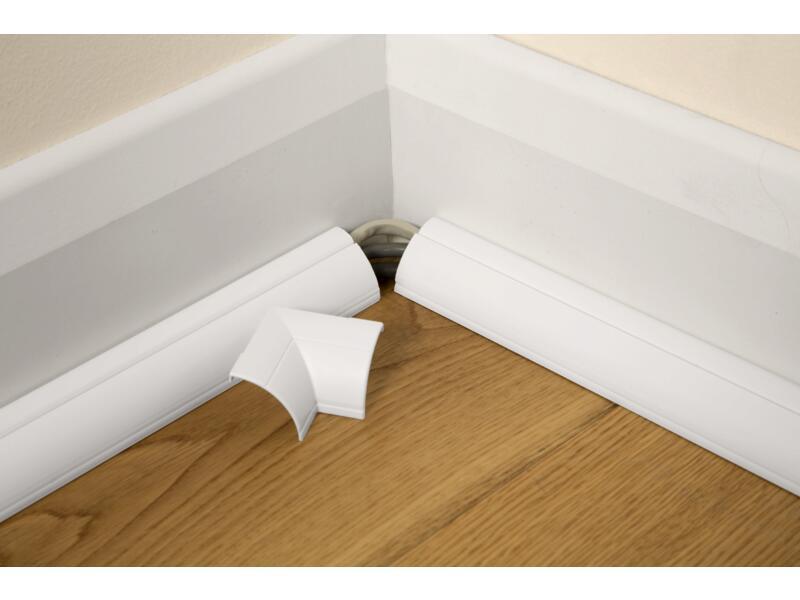 moulure de sol 22x22 mm 1m blanc + accessoires
