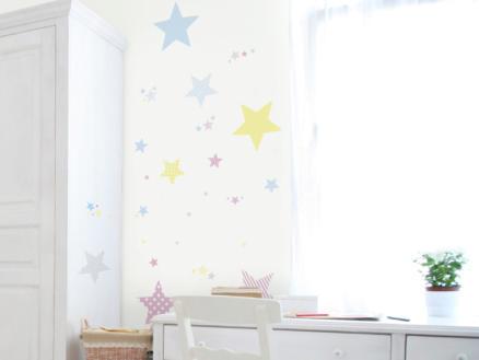 Art for the Home muurstickers sterren pastel