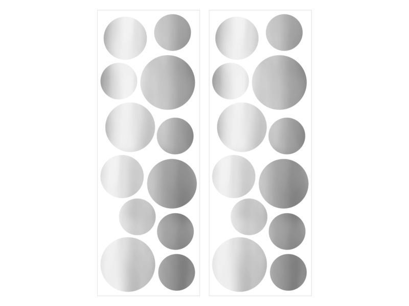 Art for the Home muurstickers stippen zilver