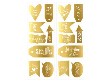 Art for the Home muurstickers teksten goud