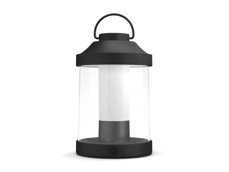 Philips myGarden Abelia draagbare LED lantaarn 3W dimbaar zwart