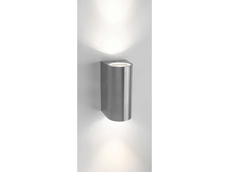 Philips myGarden Nightingale wandlamp 70W 2xGU10 inox exclusief lamp