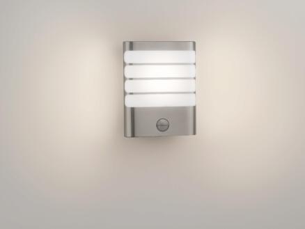 Philips myGarden Raccoon LED wandlamp 4W met PIR inox