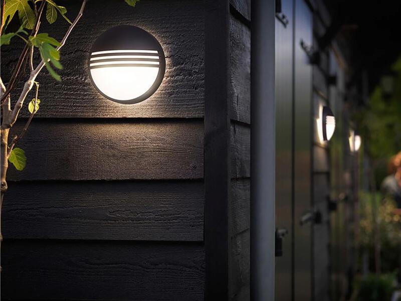 Philips myGarden Yarrow applique murale extérieure LED 6W noir