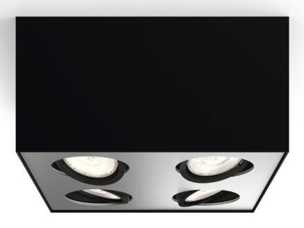 Philips myLiving Box LED plafondspot 4x4,5W dimbaar zwart