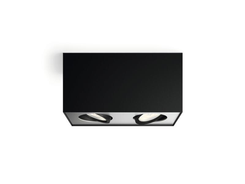Philips myLiving Box spot de plafond LED 2x4,5W dimmable noir