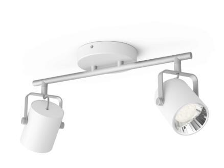 Philips myLiving Byre LED barre de spots 2x4,3W blanc