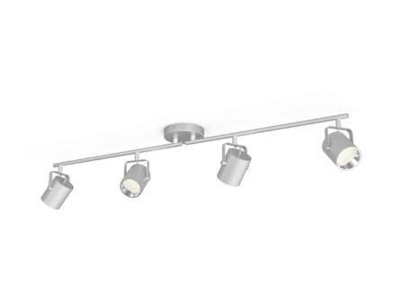 Philips myLiving Byre LED barre de spots 4x4,3W argent