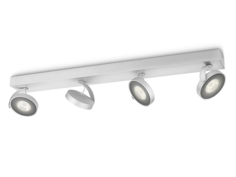 Philips myLiving Clockwork LED balkspot 4x4,5 W dimbaar aluminium
