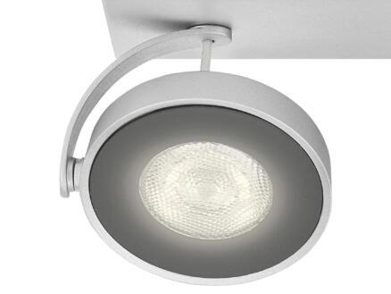 Philips myLiving Clockwork barre de spots LED 2x4,5W dimmable aluminium