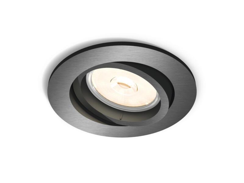 Philips myLiving Donegal inbouwspot GU10 max. 5,5W dimbaar grijs