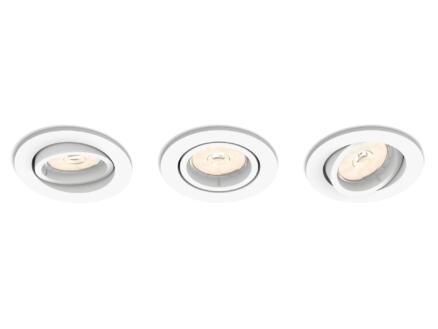 Philips myLiving Enneper inbouwspot rond GU10 max. 5,5W dimbaar wit 3 stuks