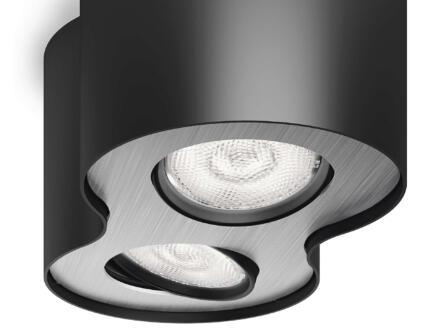 Philips myLiving Phase spot de plafond LED 2x4,5 W dimmable noir