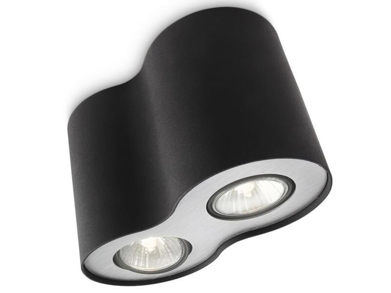 Philips myLiving Pillar plafondspot GU10 max. 2x35 W dimbaar zwart
