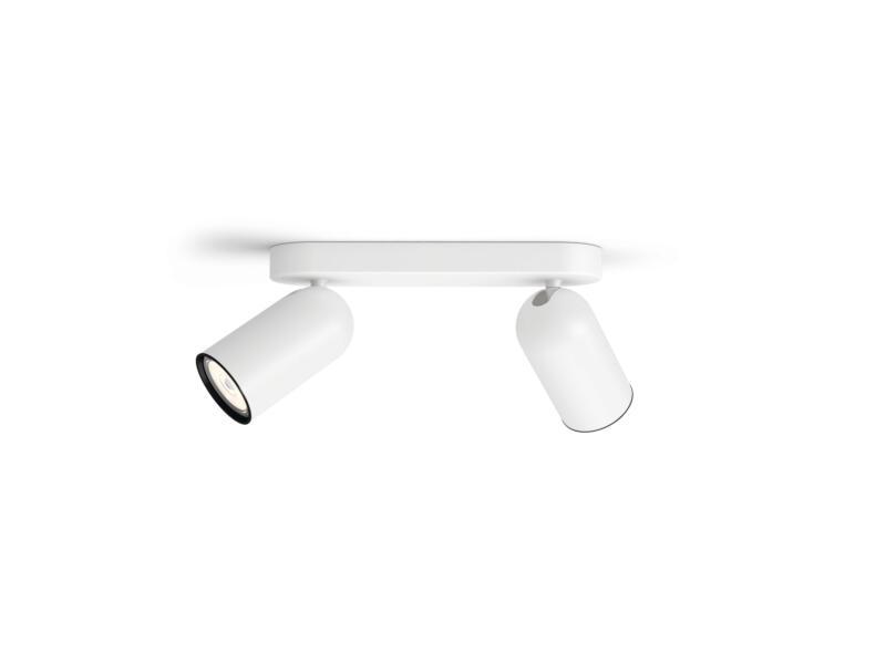 Philips myLiving Pongee barre de spots GU10 max. 2x10W dimmable blanc
