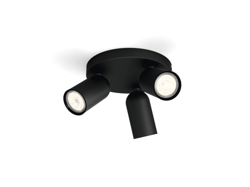Philips myLiving Pongee plafondspot GU10 max. 3x10W dimbaar zwart