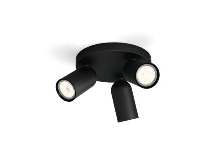 Philips myLiving Pongee spot de plafond GU10 max. 3x10W dimmable noir