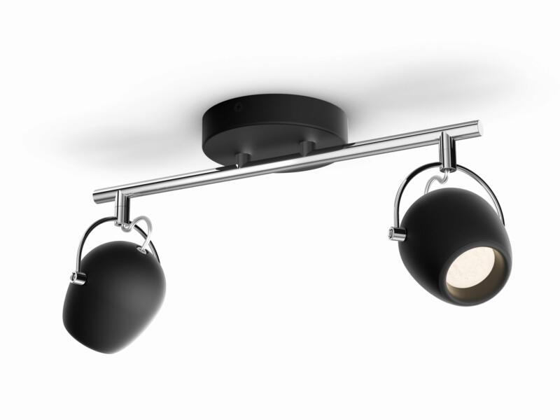 Philips myLiving Rivano LED barre de spots 2x4,3W noir