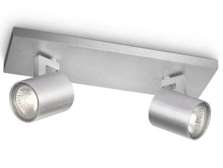 Philips myLiving Runner barre de spots GU10 max. 2x50W dimmable aluminium