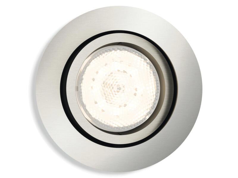 Philips myLiving Shellbark spot LED encastrable 4,5W dimmable chrome mat