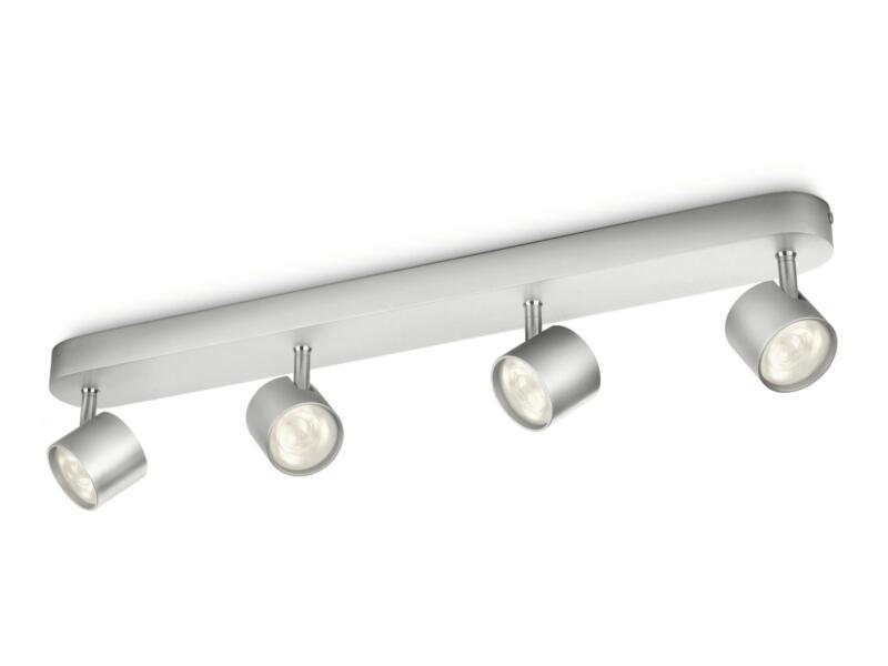 Philips myLiving Star LED balkspot 4x4,5W dimbaar aluminium