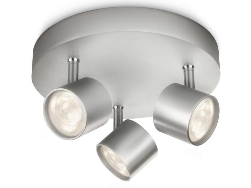 Philips myLiving Star LED plafondspot 3x4,5W dimbaar aluminium