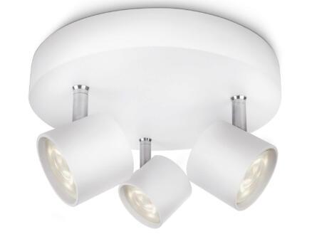 Philips myLiving Star LED plafondspot 3x4,5W dimbaar wit