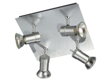 Philips myLiving Titan plafondspot GU10 max. 4x50W dimbaar aluminium