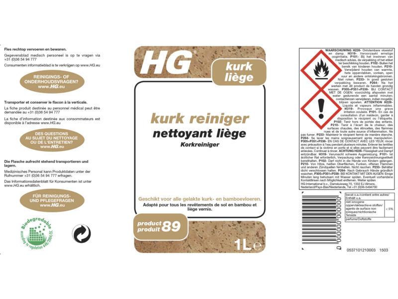 HG nettoyant liège 1l