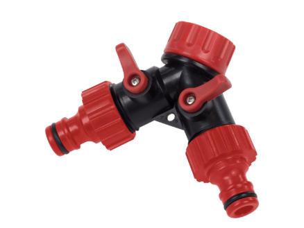 Kreator nez de robinet double sortie 19mm (3/4