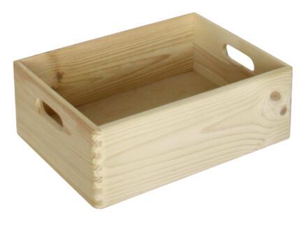 Practo Home opbergbox 40x30x14 cm hout den naturel