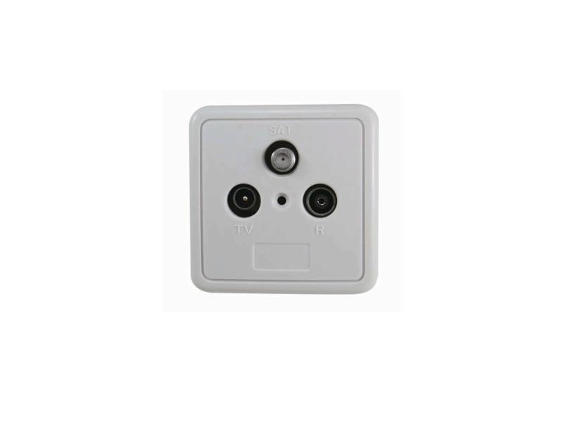 Profile opbouw stopcontact coax radio/TV/satelliet