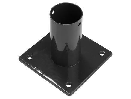 Giardino paalhouder ronde paal 48mm zwart