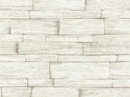 papier peint intissé 52cm 10,05m brique beige