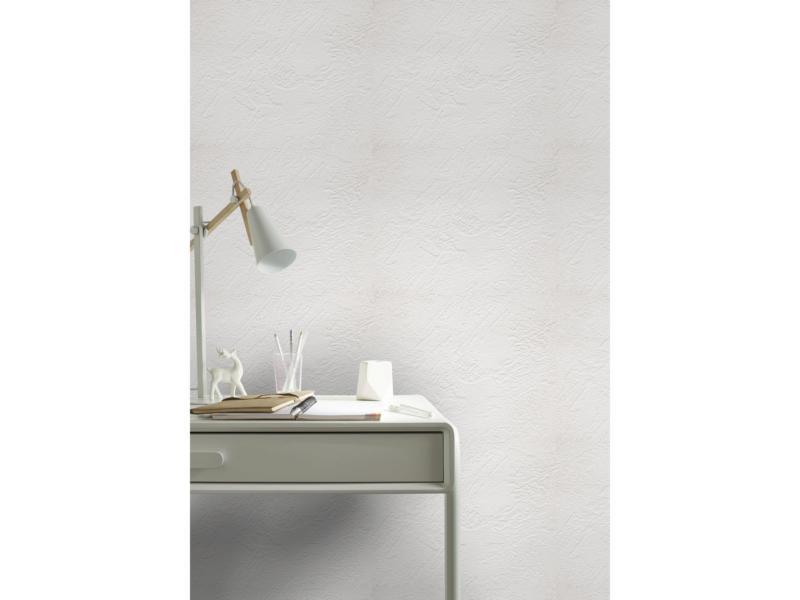 Superfresco Easy papier peint intissé Uni 52cm x 10m blanc crépi