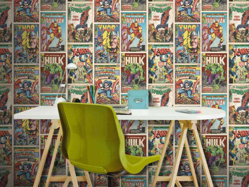 papier peint papier Heroes multi