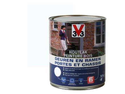 V33 peinture bois portes & châssis satin 0,5l pure white