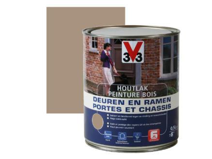 V33 peinture bois portes & châssis satin 0,5l savanna dry
