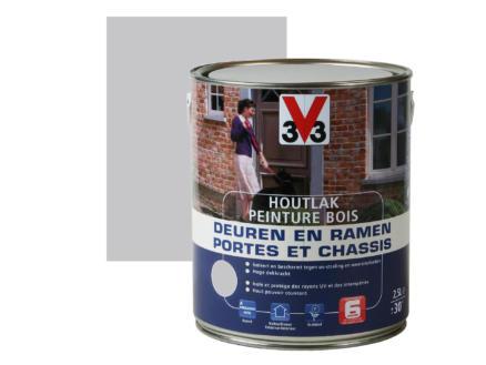 V33 peinture bois portes & châssis satin 2,5l grey sky